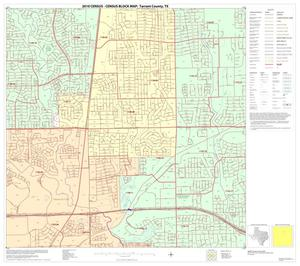Primary view of object titled '2010 Census County Block Map: Tarrant County, Block 21'.