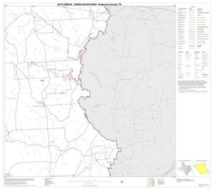 Primary view of object titled '2010 Census County Block Map: Anderson County, Block 8'.