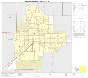 Primary view of object titled '2010 Census County Block Map: Terry County, Inset B01'.