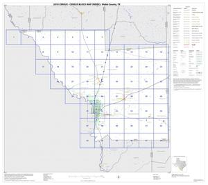 Primary view of object titled '2010 Census County Block Map: Webb County, Index'.