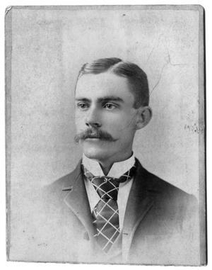 Primary view of object titled '[Man with suit and moustache]'.