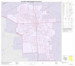 Primary view of object titled '2010 Census County Block Map: Titus County, Inset D01'.