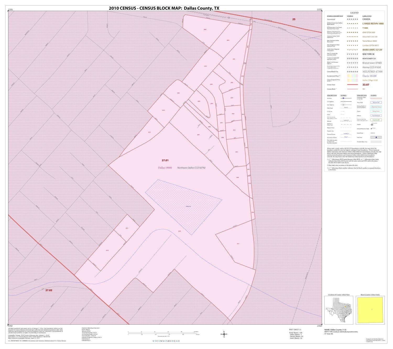 2010 Census County Block Map: Dallas County, Inset L01                                                                                                      [Sequence #]: 1 of 1