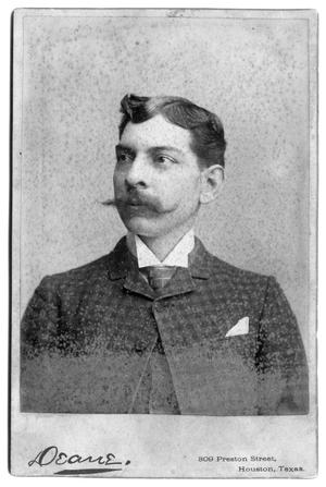 Primary view of object titled '[Man with long mustache and handkerchief]'.