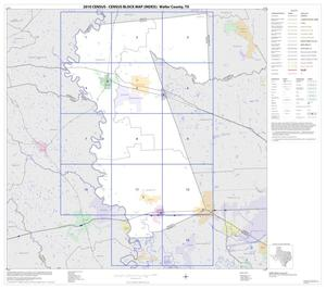 Primary view of object titled '2010 Census County Block Map: Waller County, Index'.