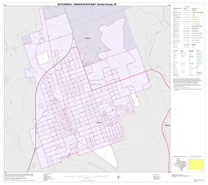 Primary view of object titled '2010 Census County Block Map: Zavala County, Inset C01'.