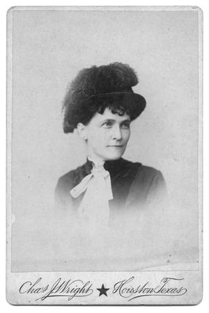 Primary view of object titled '[Lady with hat and feather]'.