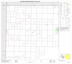 Primary view of object titled '2010 Census County Block Map: Lynn County, Block 1'.