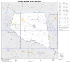 Primary view of object titled '2010 Census County Block Map: Rains County, Index'.
