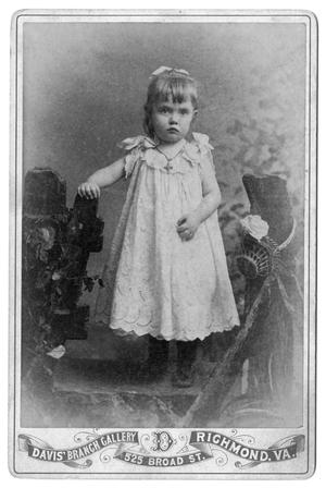 Primary view of object titled '[Girl with cross necklace]'.