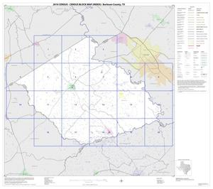 Primary view of object titled '2010 Census County Block Map: Burleson County, Index'.