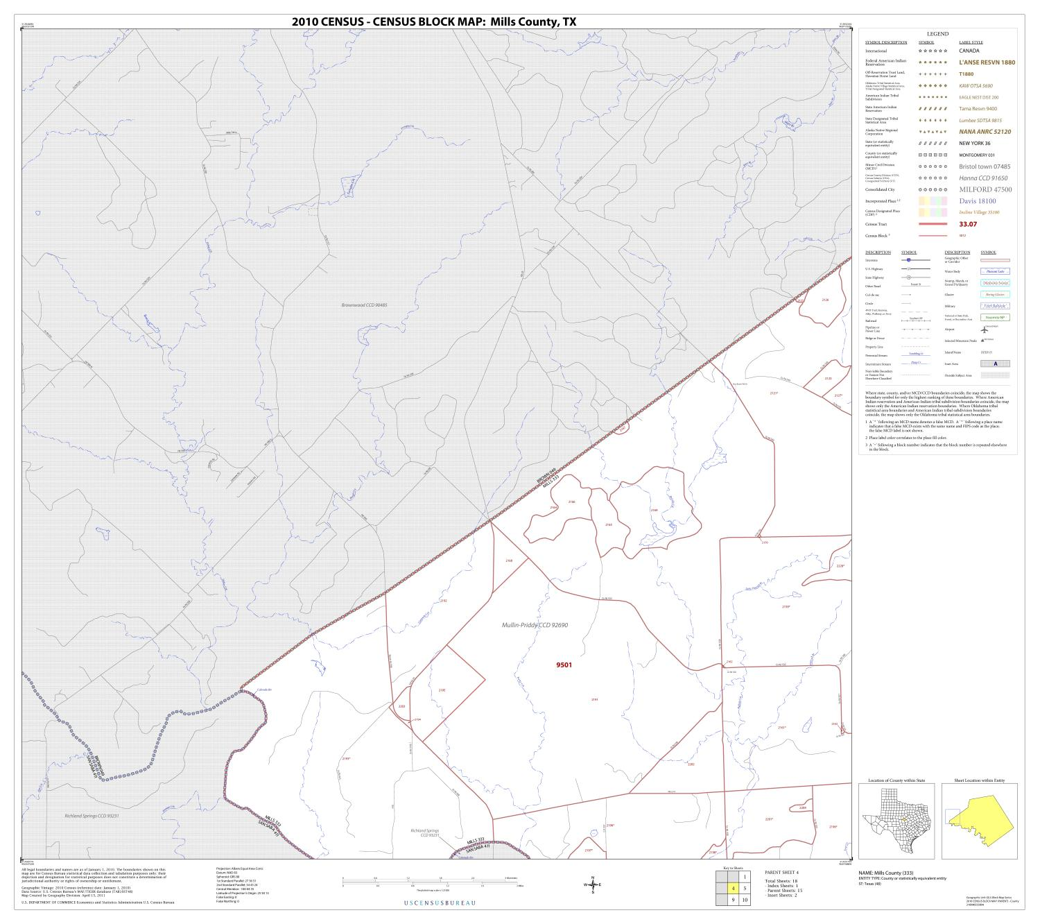 2010 Census County Block Map: Mills County, Block 4                                                                                                      [Sequence #]: 1 of 1