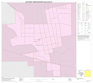 Primary view of object titled '2010 Census County Block Map: Parker County, Inset A01'.