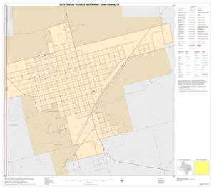 Primary view of object titled '2010 Census County Block Map: Jones County, Inset A01'.