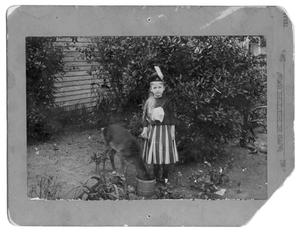 Primary view of object titled '[Young girl with deer]'.