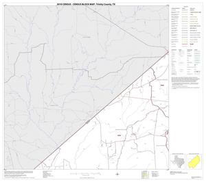 Primary view of object titled '2010 Census County Block Map: Trinity County, Block 3'.