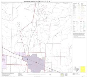 Primary view of object titled '2010 Census County Block Map: Childress County, Block 8'.