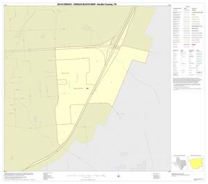 Primary view of object titled '2010 Census County Block Map: Hardin County, Inset D01'.