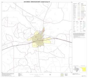 Primary view of object titled '2010 Census County Block Map: Crockett County, Block 18'.