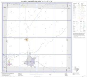 Primary view of object titled '2010 Census County Block Map: Hutchinson County, Index'.