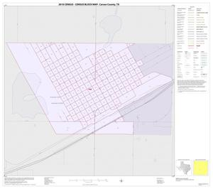 Primary view of object titled '2010 Census County Block Map: Carson County, Inset C01'.