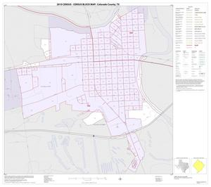 Primary view of object titled '2010 Census County Block Map: Colorado County, Inset D01'.