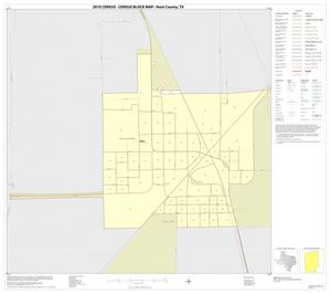 Primary view of object titled '2010 Census County Block Map: Hunt County, Inset B01'.