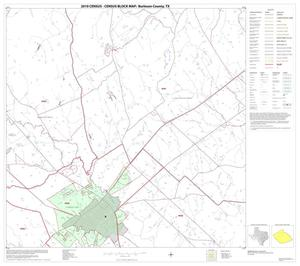 Primary view of object titled '2010 Census County Block Map: Burleson County, Block 6'.