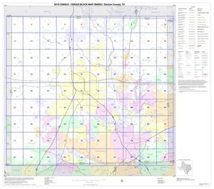 Primary view of object titled '2010 Census County Block Map: Denton County, Index'.