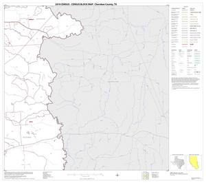 Primary view of object titled '2010 Census County Block Map: Cherokee County, Block 16'.