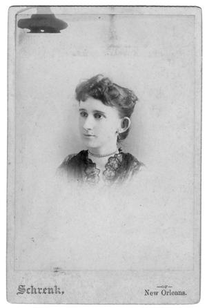 Primary view of object titled '[Young lady with pearl necklace]'.