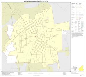 Primary view of object titled '2010 Census County Block Map: Karnes County, Inset E01'.