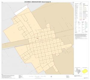 Primary view of object titled '2010 Census County Block Map: Navarro County, Inset E01'.