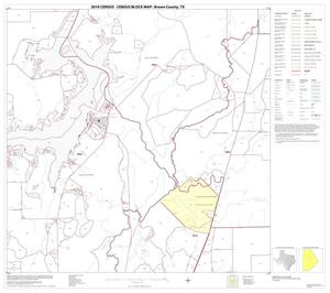 Primary view of object titled '2010 Census County Block Map: Brown County, Block 8'.