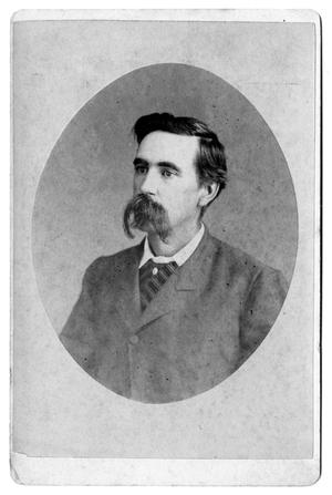 Primary view of object titled 'Cabinet Card - Man with long moustache'.