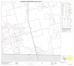 Primary view of object titled '2010 Census County Block Map: Gaines County, Block 13'.