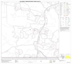 Primary view of object titled '2010 Census County Block Map: Kimble County, Block 18'.