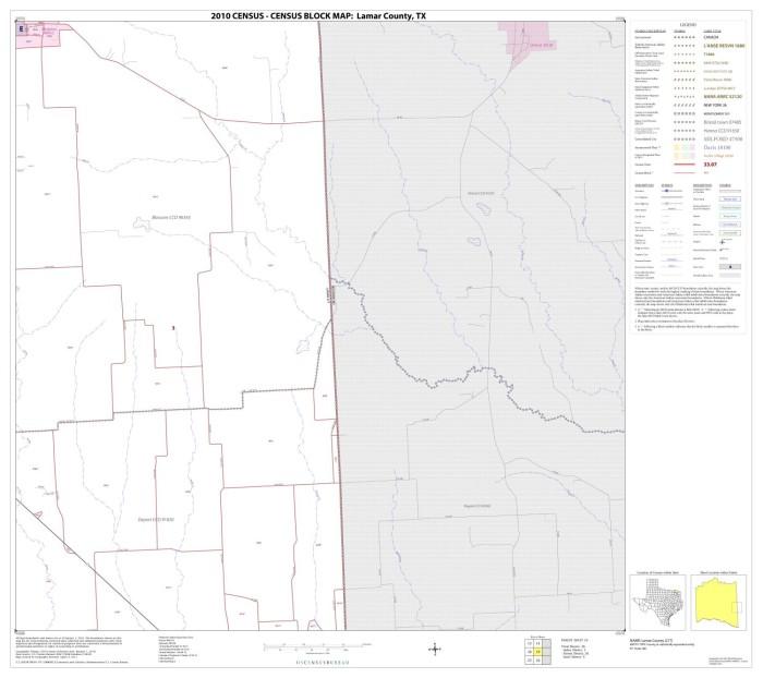 2010 Census County Block Map Lamar County Block 19 The