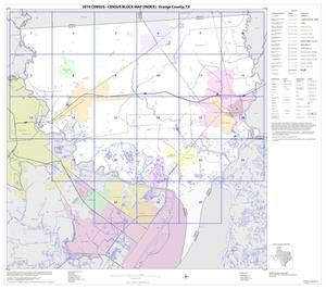 Primary view of object titled '2010 Census County Block Map: Orange County, Index'.