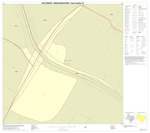 Primary view of object titled '2010 Census County Block Map: Travis County, Inset F01'.