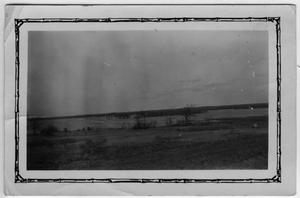 Primary view of object titled '[flood of spring 1927, Lake Dallas at Camp Fisher before completion of new dam]'.