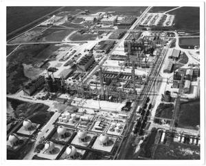 Primary view of object titled 'Aerial View of the Firestone Plant in Orange, Texas'.