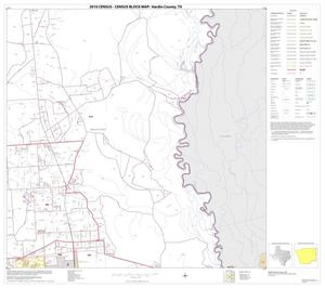 Primary view of object titled '2010 Census County Block Map: Hardin County, Block 10'.