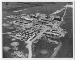 Aerial View of the Firestone Plant Under Construction