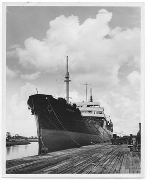 Primary view of object titled '[Photograph of R.P. Smith Ship at Orange City Docks]'.