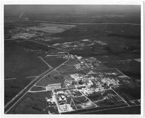 Primary view of object titled '[Aerial View of Chemical Row in Orange, Texas]'.