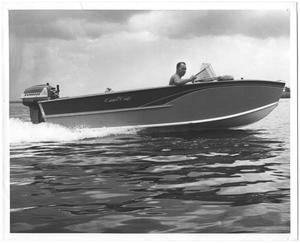Primary view of object titled '[Speed Boat in Orange, Texas]'.
