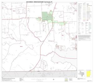 Primary view of object titled '2010 Census County Block Map: Hunt County, Block 22'.