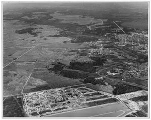 Primary view of object titled '[Aerial View of DuPont Plant Under Construction]'.