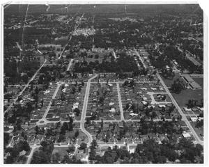 Primary view of object titled '[Aerial View of a Residential Neighborhood]'.
